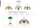 AMPLA - lampy stojące, wiszące, stołowe - żyrandole i kinkiety z materiałów szlachetnych (mosiądz,