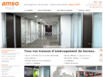 Aménagement de bureau, cloison amovible bureaux, agencement mobilier de bureau AMSO