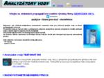 Úvodní stránka serveru www. analyzatory. cz