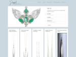 Exquisite Unique handmade Silver Angel Jewelry Archangel Pendants. Popular Crystal Birth