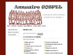 Annuaire Gospel L'annuaire entièrement consacré au Gospel !