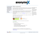 Overview and download of the free anonymizer. | anonymox.net