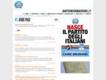 Benvenuti nel sito di Antonio MACONI. Capogruppo del PdL nel Consiglio Comunale di Alessandria, ...