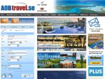 AOB Travel flygbiljetter, charter, flyg, hotell, hyrbil, kryssningar, fotbollsresor