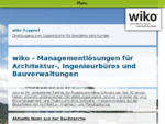 wiko Bausoftware GmbH - Controlling im Planungsbüro | Kopfmenue | Content