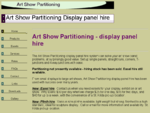 Art Show Partitioning Display panel hire