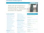 ascensores - montacargas - mantenimiento ascensor - reparación ascensor