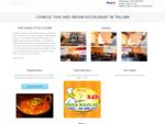 Aasia köök Tallinnas. Hiina, Tai ja India restoran. Toit koju| Asian Cafe