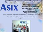 Strona Biura Rachunkowego ASIX, oferujemy szereg usług zakresu bankowego, zapraszamy do odwiedzeni