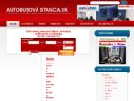 AUTOBUSY SLOVENSKO EURÓPA - Lístok na Bus Odchody Príchody