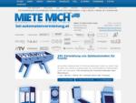 Automaten mieten | Tischfußballtisch | Dart | 24 Miete | Automatenvermietung Wien