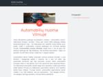 Auto nuoma | Automobiliu nuoma Vilniuje