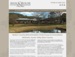 Hunter Valley Bed and Breakfast Accommodation | Avoca House Farmstay | BB Wollombi