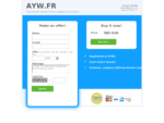 AYW.FR is available for purchase. Get in touch to discuss the possibilities! - DomainStock.com