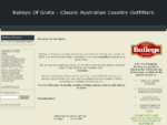 Baileys Of Greta | Home | Classic Australian Country Clothing Outfitters Retailers | Buy Online