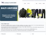 Balti Uniform AS | Tööriided | Töörõivad