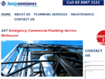Banjo Nominees is an industrial commercial plumbing service in Melbourne. Our industrial