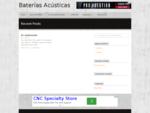 Baterías Acústicas | Sets de batería, cajas, herrajes, baquetas y accesoriosBaterías Acústicas |