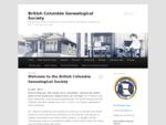 British Columbia Genealogical Society