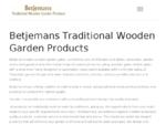 Betjemans Traditional Wooden Garden Products