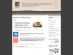 Startseite - Bibliothek für Hugenottengeschichte (BFHG)