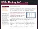 BIN - binárny kód a informácie