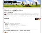 Boxing day in Melbourne Sydney Perth Hobart