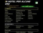 CAMERE PER ALCUNE ORE IN HOTEL A ROMA.