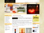 Produzione e vendita online di candele artistiche artigianali del laboratorio Arte Cera.