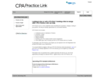 CA Practice Link - Home page for CPA Practice