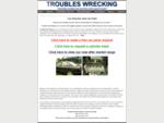 Car Wrecker Car Parts Troubles Wrecking