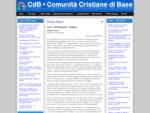 Cdb - Comunità cristiane di base in Italia