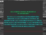 Bienvenido-Torneo central de reservas