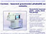 Popis předmětů laserem - Cerman