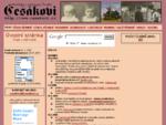 Stránky o příjmení Česák - Úvodní stránka