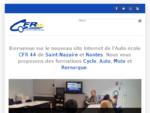 Auto-école CFR 44, St Nazaire et Nantes, Permis Auto, Moto et Cyclo