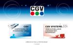 Page d'entrée du site web de CGV - Compagnie générale de vidéotechnique