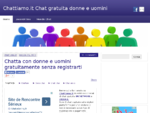 Chattiamo. it Chat Chatta Chattare gratis senza registrazione