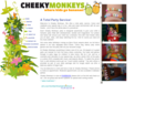 Cheeky Monkeys themed parties for children. Cheeky Monkeys - where kids go bananas!