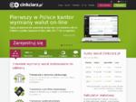 Kantor internetowy - Kantor wymiany walut on-line | Kursy walut | Cinkciarz. pl