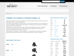 Čínské znaky, česko-čínský slovník, abeceda, jména, tetování