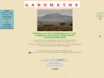 Page d'accueil de GAROMATHS, site de Mathématiques