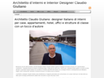 Architetto d interni e interior designer Claudio Giuliano