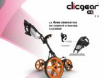 Clicgear 3. 0 La 3ème génération du chariot à succès ! Clicgear France - Distribué par Boston Golf