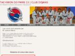 Taekwondo Paris 13 Club Dojang