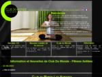 Club Du Monde Fitness Antibes. La Nouvelle Salle de Musculation, Club de Santé et Spa.