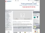 Site internet de la société CMédical, boutique en ligne vente de matériel médical, lit médicalis...