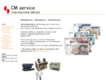 CM Service AB | Sedelräknare | Myntsorterare | Mynträknare |