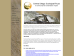 Central Otago Ecological Trust (COET). A Community-led Conservation Project