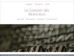 Comptoir des Rédacteurs formation rédacteur web à distance ; rédaction de contenu pour ...